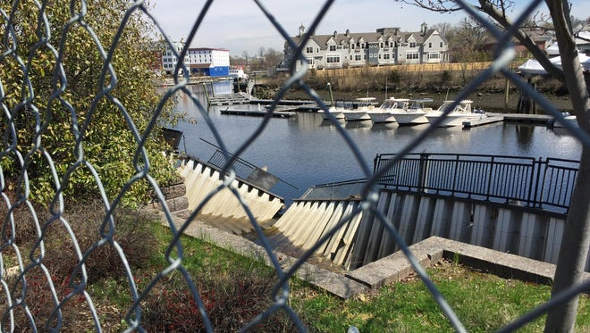 Bulkhead collapses along the Byram River have kept a pedestrian walkway closed.
