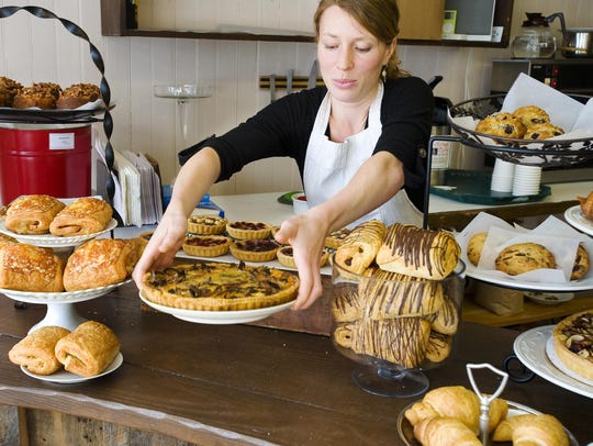 Jessica Bunce, co-owner of Barrio Bakery, at her bakery in the Old North End.