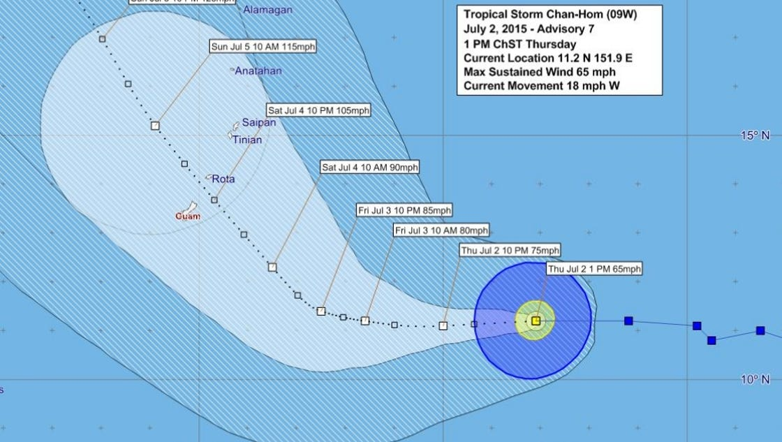 typhoon watch in effect for guam  cnmi