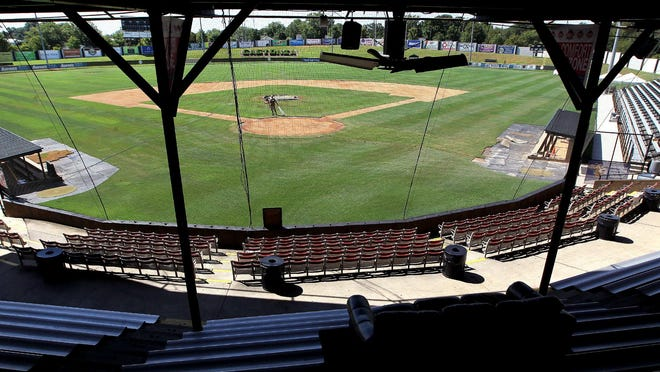 The view from the grandstand at Sims Legion Park in Gastonia. Gaston College will take over the stadium this spring in its inaugural baseball season. JOHN CLARK/THE GAZETTE