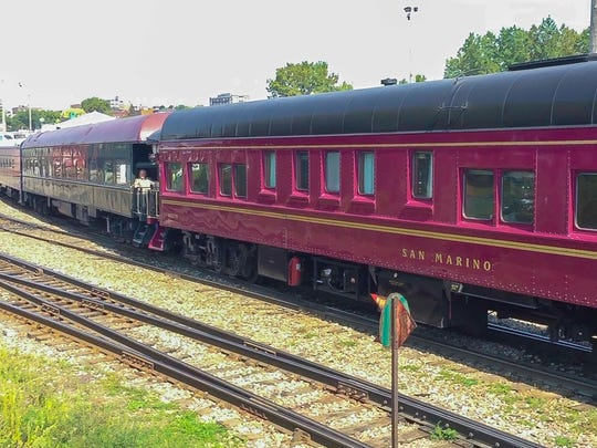 Eighteen railroad cars belonging to members of The