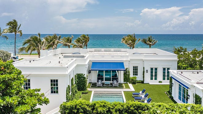 Just sold for a recorded $14 million, a house at 1632 S. Ocean Blvd. faces the Atlantic on the opposite side of the coastal road.