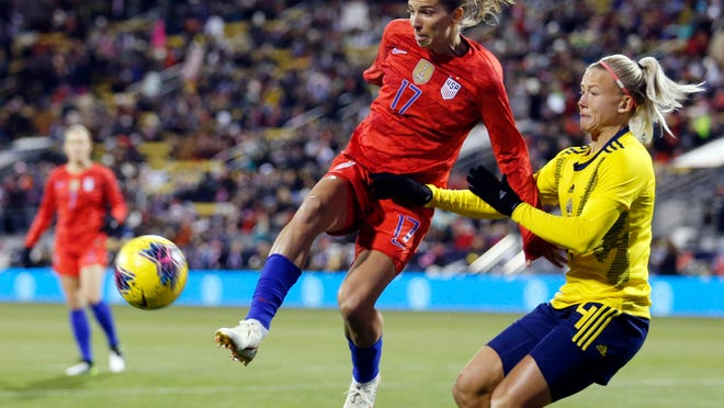 Tobin Heath, left, has played 177 times for the U.S. Women's National Team.