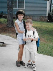 Scotty McCreery and sister Ashley McCreery at an early