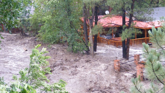 The 2008 food on the Rio Ruidoso destroyed bridges, stranded residents and visitors in Upper Canyon and tore out utility lines.