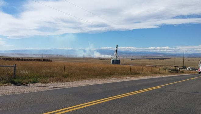 A grass fire in Wellington is burning over 400 acres.