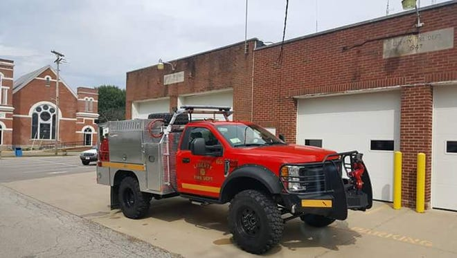The Liberty Volunteer Fire Department is getting a new grass rig, two years after the department's old rig burned.