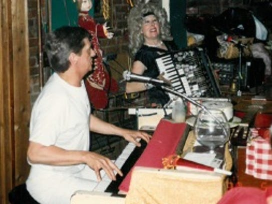 Piano player Jerry Zook and Bullwinkle's owner Betty
