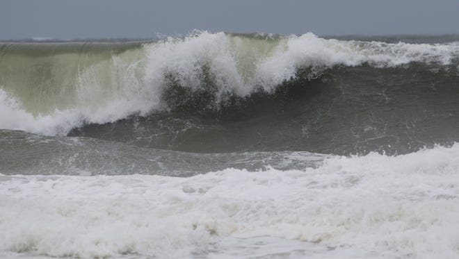 Waves head into shore in Ortley as latest noreaster works its way up the coast.