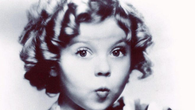 This undated photo shows child film star Shirley Temple.