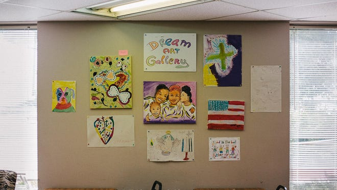 More than a hundred pieces of art were put on sale Friday at The Dream Center.