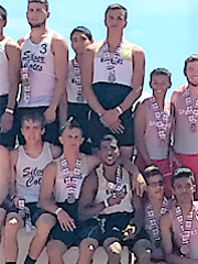 Members of the boys 4x100 relay team who placed second