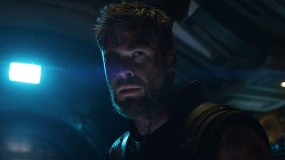 "Thor (Chris Hemsworth) in ""Avengers: Infinity War."""
