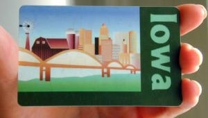 An Iowa SNAP card, better known as a food-stamp card.