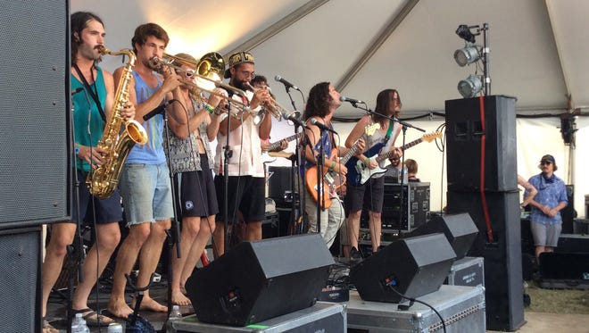Kansas Bible Company fills the New Music on Tap Lounge stage Sunday afternoon at Bonnaroo.