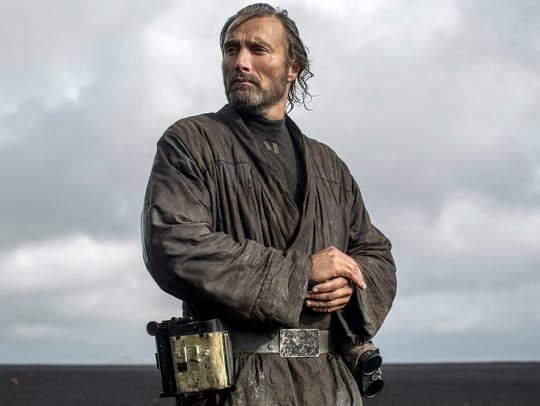 Mad Mikkelsen plays Jyn's father Galen Erso, a key