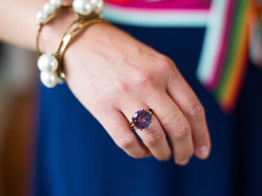 Before April's mother-in-law passed away she left this ring from Peru for her with a special note. Now, April wears it to every family event. July 6, 2017.
