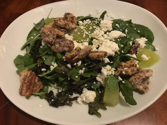 The Timeless house salad ($9) includes vanilla cinnamon-infused