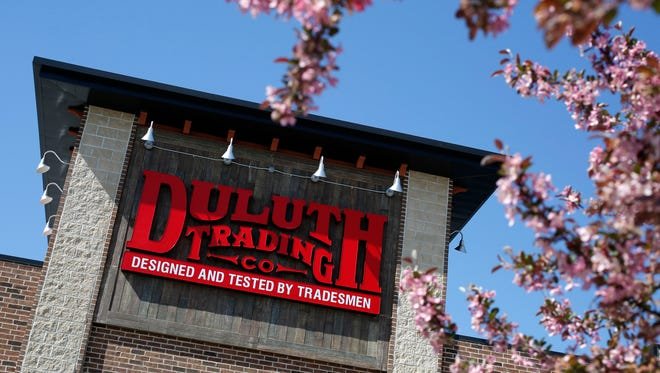 The facade of a Duluth Trading Company store in Iowa. The primarily online retailer is preparing to open its first store in New Jersey in Ramsey.