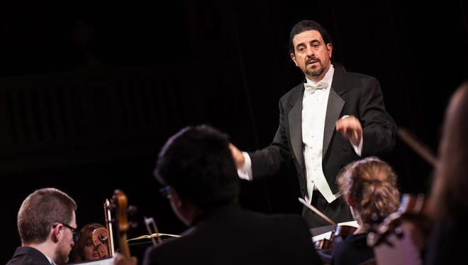 Anthony LaGruth conducts the Garden State Philharmonic.