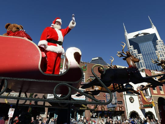 The annual Christmas parade on Broadway, always features