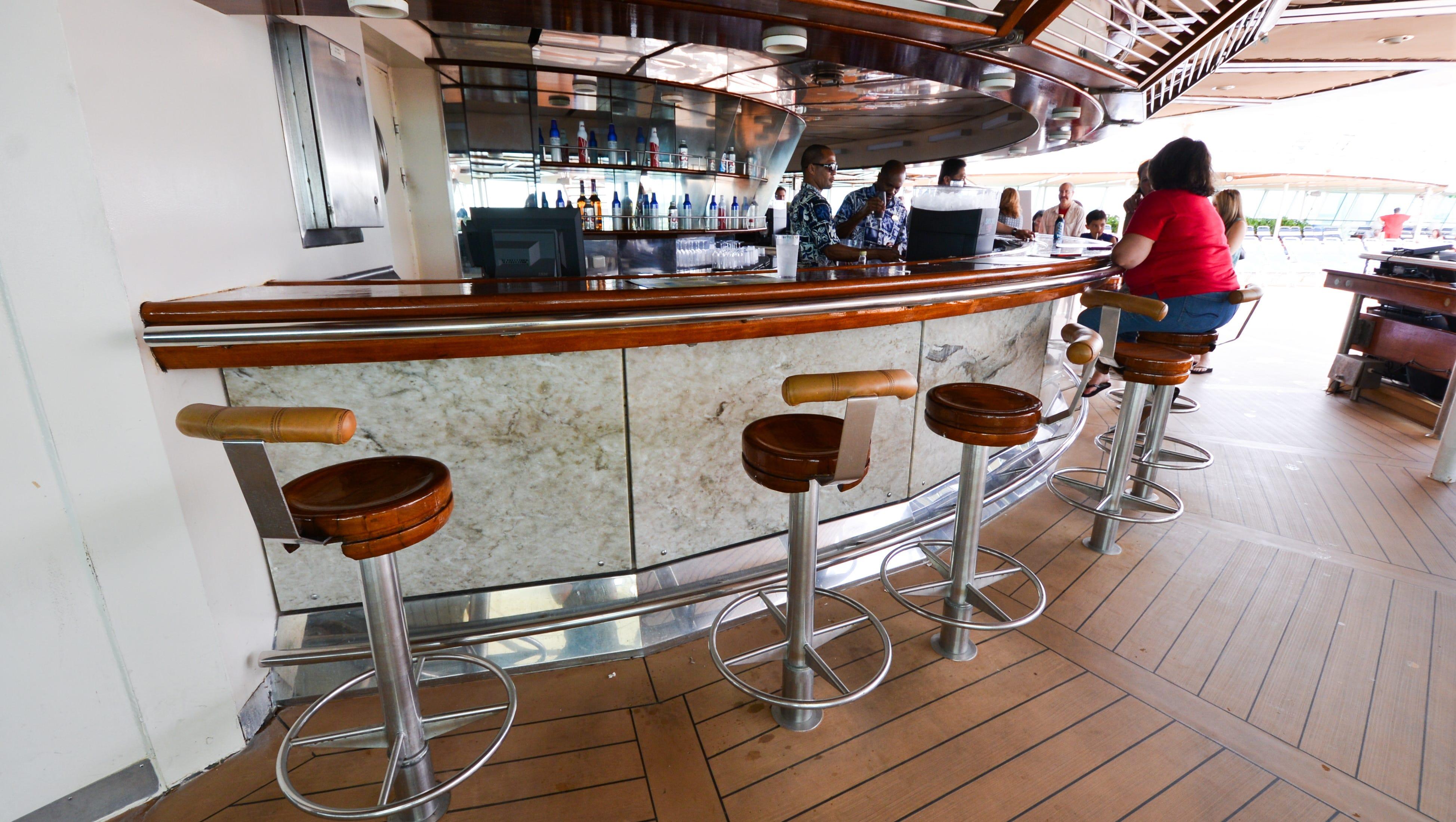 A pool deck bar.