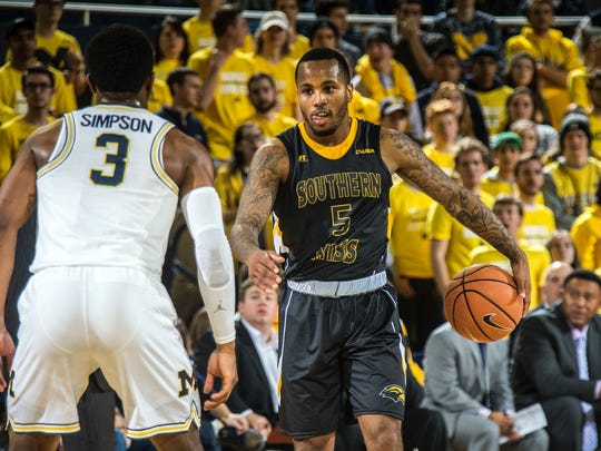 Southern Miss guard Tyree Griffin is 12th in Conference