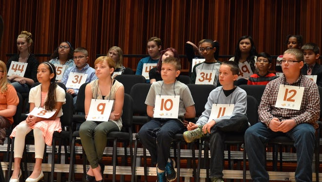 Participants in the 2016 WIPB Regional Spelling Bee await their term to spell.