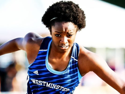 Ivy Cains, Westminster, track and field