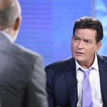 "Former ""Two and a Half Men"" star Charlie Sheen, right, is interviewed by Matt Lauer, Tuesday, Nov. 17, 2015 on NBC's ""Today"" in New York. In the interview, the 50-year-old Sheen said he tested positive four years ago for the virus that causes AIDS."