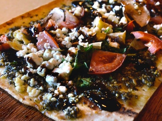 A Vegetable Flatbread is the creation of Chef George Kyrtatas at  SweetWater Bar & Grill in Cinnaminson. The restaurant makes nearly everything from scratch.