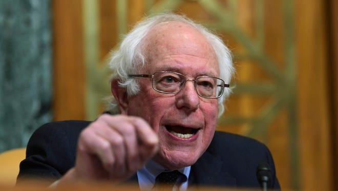 Sen. Bernie Sanders campaigned for president Friday, April 12, 2019, in Madison, Wis.