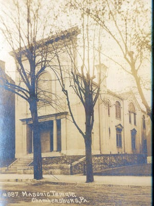 This is what the Masonic Temple on South Second Street, Chambersburg, looked like in 1910.