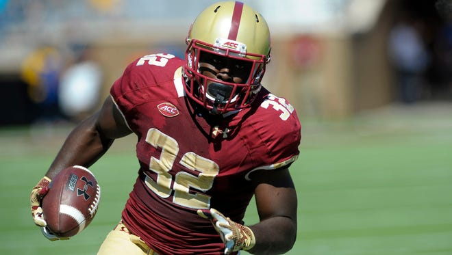 Jon Hilliman looks to help the Eagles pull the upset over the Seminoles on Friday night.