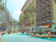 A conceptual rendering shows four proposed hotels with
