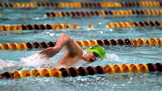 Brennan Neitzel of D.C. Everest will compete in the 50 yard freestyle and 100 butterfly during Saturday's WIAA Division 1 state boys swim meet He also is part of two relay teams and a contingent of five Evergreens swimmers competing in the meet.