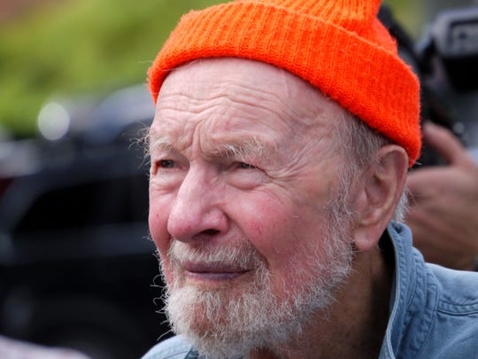 Pete Seeger, shown here in 2012, was founder and inspiration for The Hudson River Sloop Clearwater, an educational organization in Beacon, where he lived much of his life.