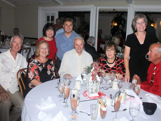 Enjoying the party are Barry & Judy French, Diane and Joe Perino, Leo and Barbara Sutera, Margie and Paul Milici.