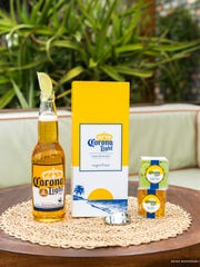 But First, Cerveza, small Candy Cube - non alcoholic;  Here for a Good Lime, small Candy Cube - non alcoholic;  Corona Light Bento Box- non alcoholic.
