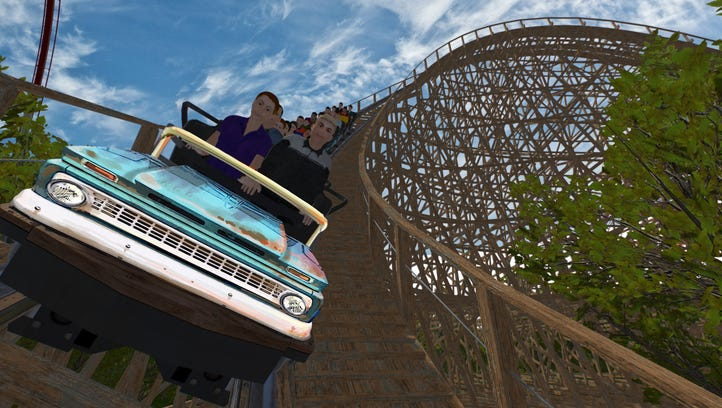 This rendering demonstrates what the first drop will