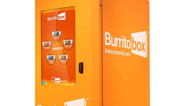 A Burritobox vending machine