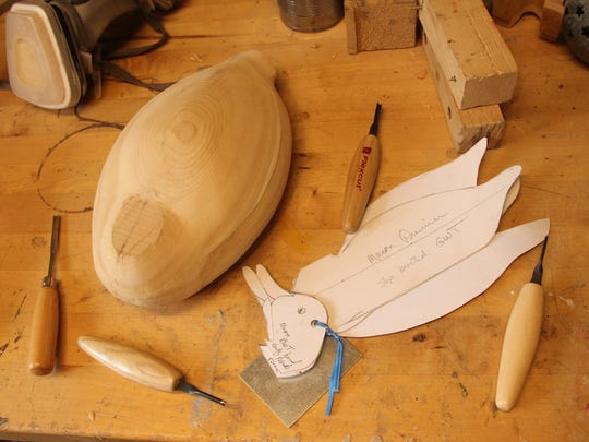 Decoy carving materials, including a cedar body and