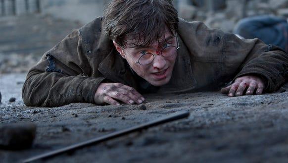 Daniel Radcliffe is shown in a scene from 'Harry Potter