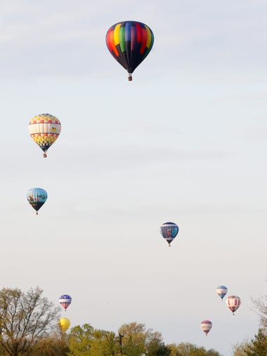 The Great Balloon Charity Race took to the skies Thursday