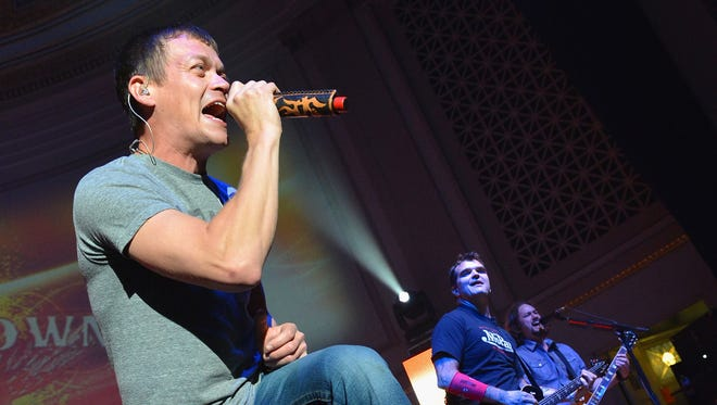 Brad Arnold of 3 Doors Down performs onstage during the Agency Group Party at at IEBA Conference Day 3 at the War Memorial Auditorium on October 9, 2012 in Nashville, Tennessee.