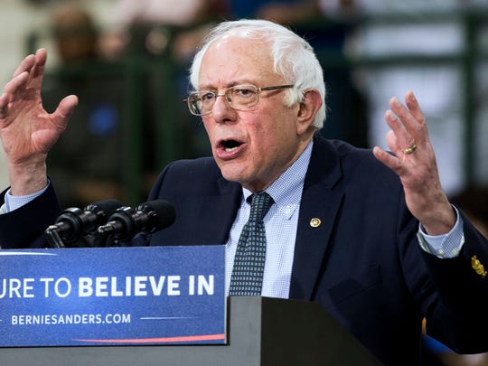 Democratic presidential candidate Sen. Bernie Sanders, I-Vt., speaks during a campaign rally at Chicago State University in Chicago, Thursday, Feb. 25, 2016. (AP Photo/Jacquelyn Martin)