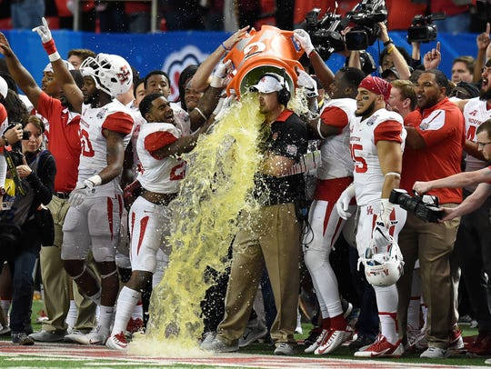 Houston had a lot to celebrate in winning the Chick-Fil-A