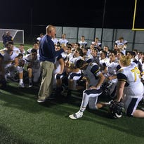 The Victor Blue Devils, with coach Geoff Mandile, moved up in this week's Section V Large-Schools Football Coaches Poll.