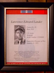 U.S. Army Sgt. Lawrence Edward Lander died while a prisoner of war in North Korea Jan. 31, 1951.