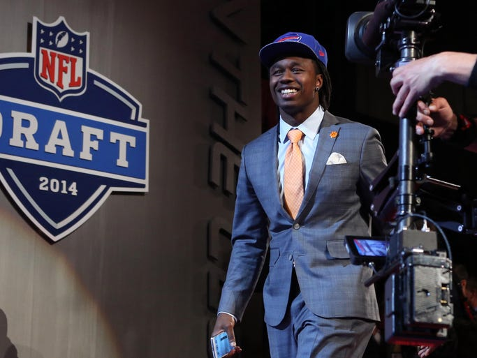 Sammy Watkins of Clemson walks to the stage after the Bills selected him as the No. 4 overall pick in the first round of the 2014 NFL Draft.